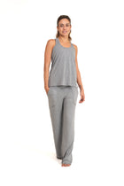 Bora-Bora Comfy  Pants  Mixed Grey ( Natural Viscose)