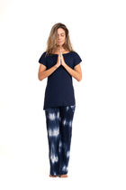 Bora-Bora Comfy  Pants Tie Dye Blue ( Natural Viscose)