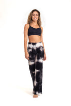 Bora-Bora Comfy  Pants Tie Dye Black ( Natural Viscose)