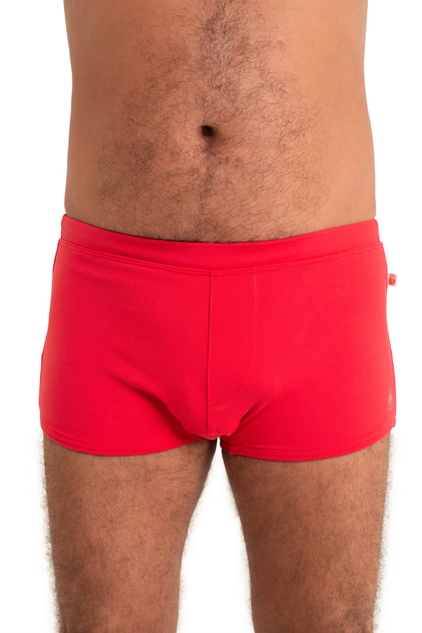 Men's Brazilian Style Trunks Red.