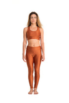 Mid-Rise Legging Shiny Gold