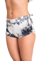 Side String Shorts, Tie Dye Black