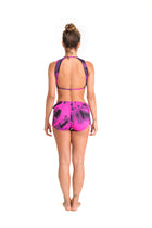 Side String Shorts, Tie Dye Purple