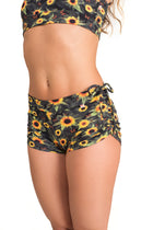 Side String Shorts, Sunflower Garden