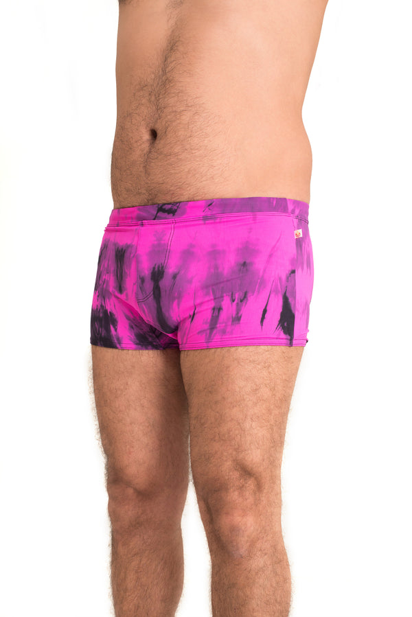 Men's Brazilian Style Trunks Tie Dye Purple