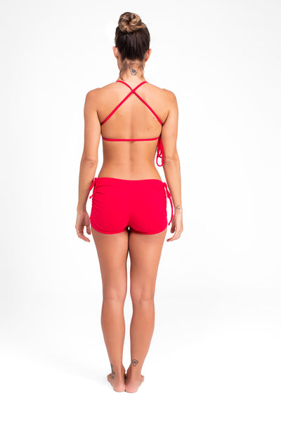 Side String Shorts Rusty Red Eco