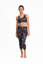 Pocket  Mesh Capri Pants Constellation