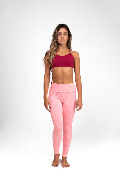 Mid-Rise Legging Baby Pink, Textured Coolform
