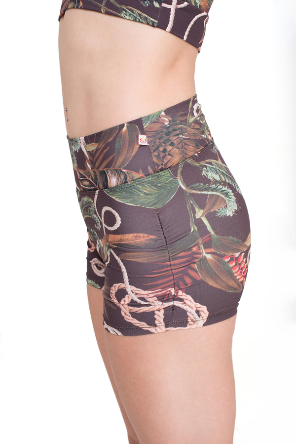 Gather Leg  Shorts, Divine Vines
