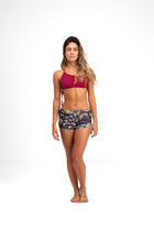 Side String Shorts Lucky Print