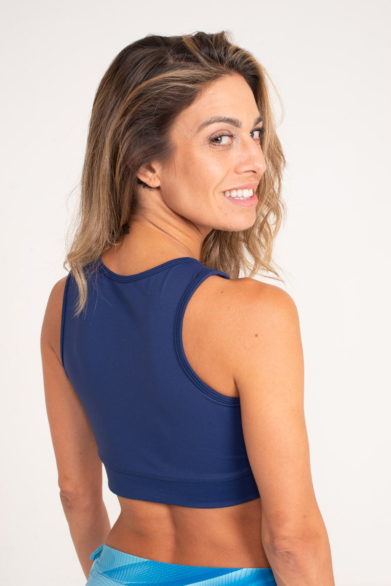 Gavea Top Navy Blue , Cool Form Light