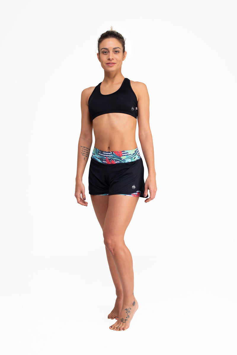 Double Shorts   Black / Print
