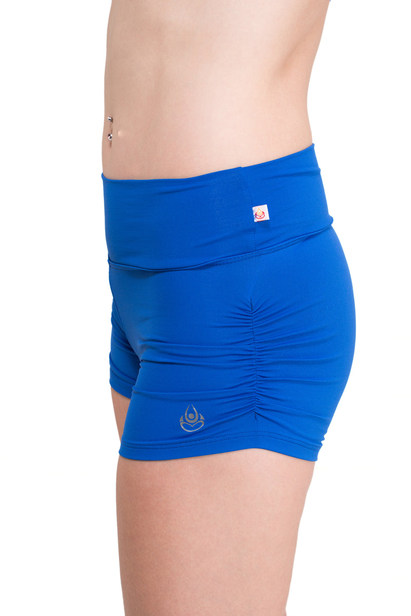 Gather Leg  Shorts, Royal Blue Cool From Light