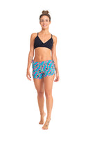 Side String Shorts, Blue Toucans