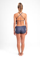 Crossback Top Polka Dots Navy Eco