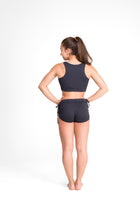 Side String Shorts Black Eco, Cool Form Light