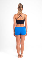 Side String Shorts Fall Blue Eco.