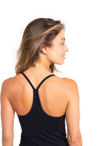 Built in Bra Tank Top Black