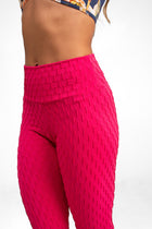Mid-Rise Legging Hot Pink, Textured Coolform.
