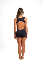 Open Back  Short Unitard Black Cool From Light