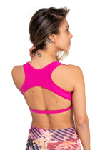 Bridge Back Top Black, Pink Panther