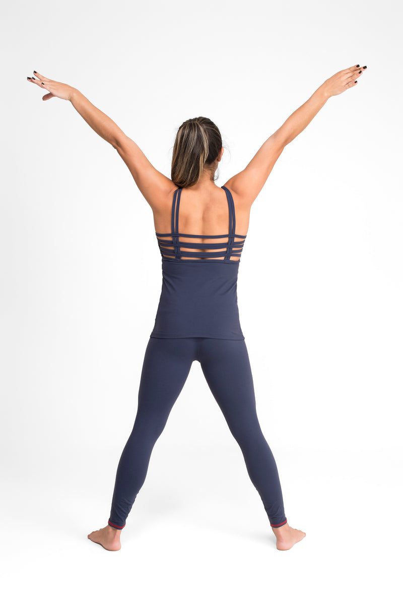 Weave Tank Top Navy Blue Eco