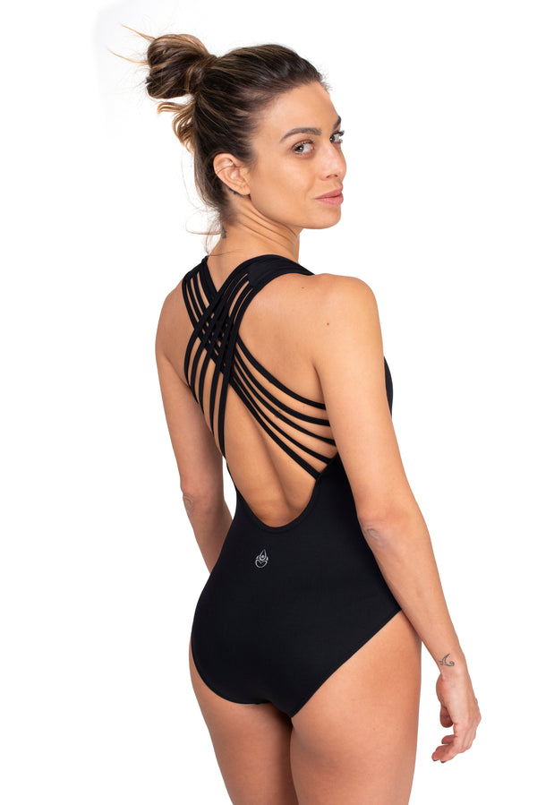 Strappy Leotard Black Cool Form light