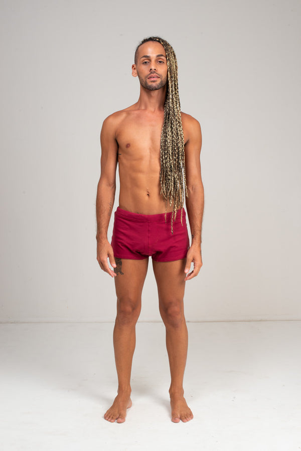 Men's Brazilian Style Trunks Red Wine.