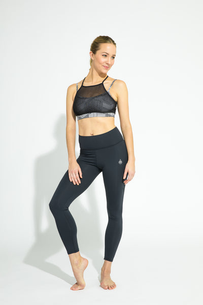 Urban Mesh Top Crossroads/Black