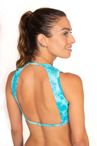 Romantic Vest  Top, Teal Tie dye