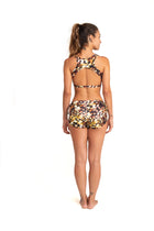 Bridge Back Top Black, Jewel Animal Print