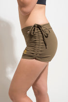 Side String Shorts Deep Green.