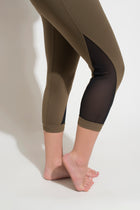 Mesh Capri Pants  Deep Green