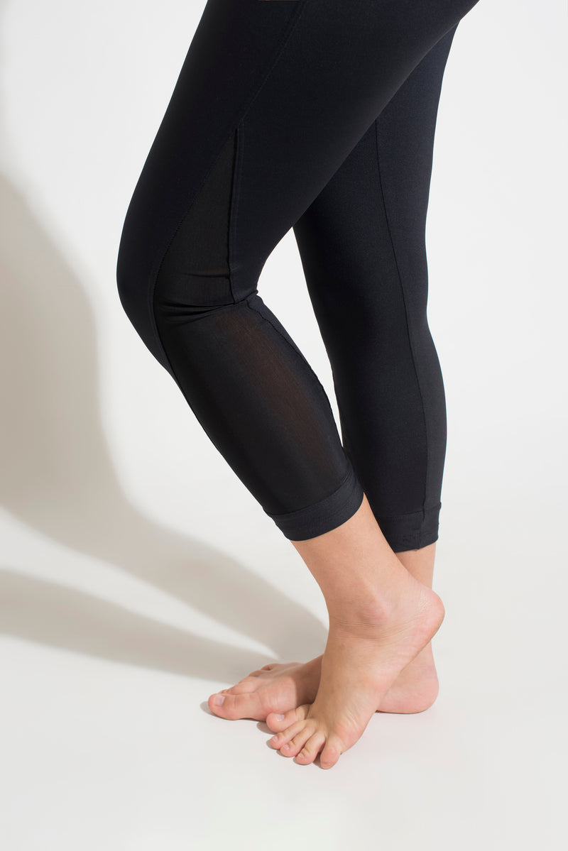 Mesh Capri Pants  Black , Coolform Light