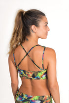 Cycling Cross Back Top, Magic Feathers