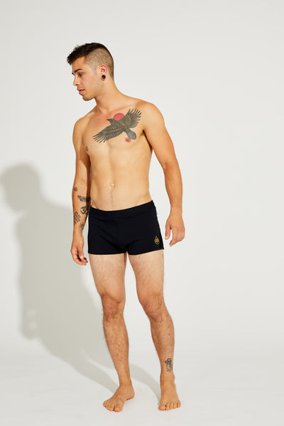 Men's Brazilian Style Trunks Black, Coolform Light
