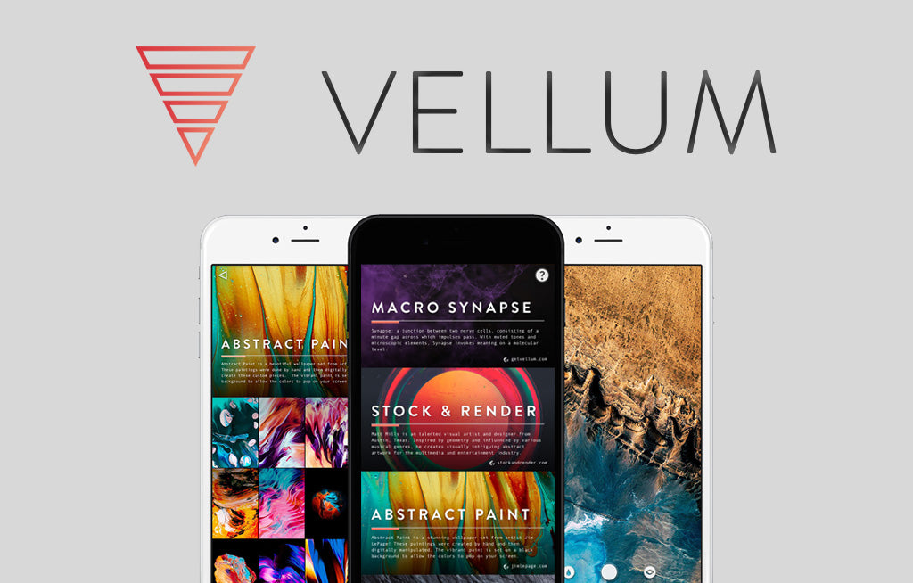 Stock&Render Wallpapers Now Available in the Vellum App (iPhone)