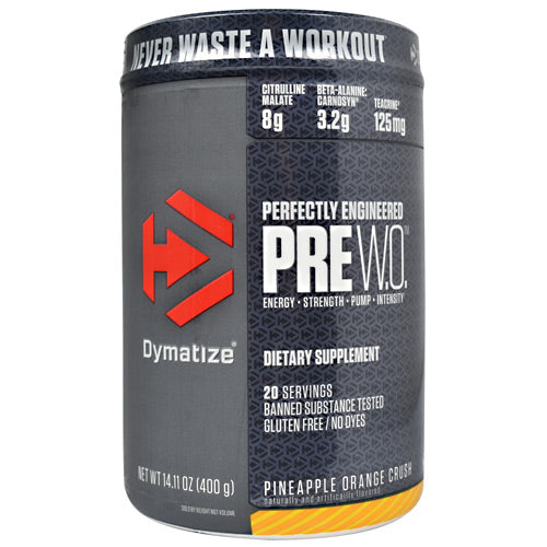 Dymatize Pre W.O. - Pineapple Orange Crush - 20 Servings - 705016171040
