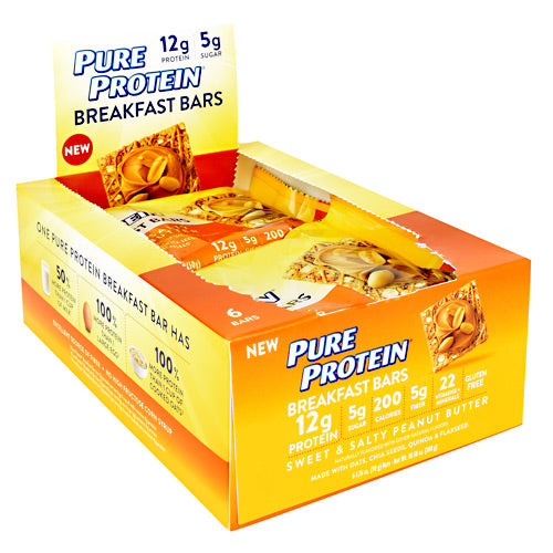 Pure Protein Breakfast Bars Breakfast Bar - Sweet & Salty Peanut Butter - 1 Bars - 749826792385