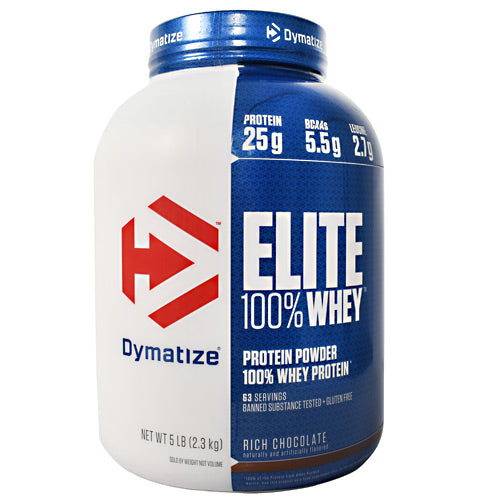 Dymatize Elite 100% Whey - Rich Chocolate - 5 lb - 705016560073
