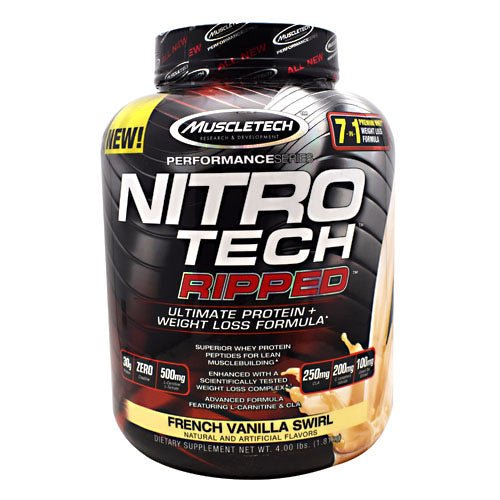 Muscletech Performance Series Nitro Tech Ripped - French Vanilla Swirl - 4 lb - 631656709575