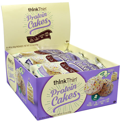 Think Products Protein Cakes - Birthday Cake - 9 Packages - 753656714790