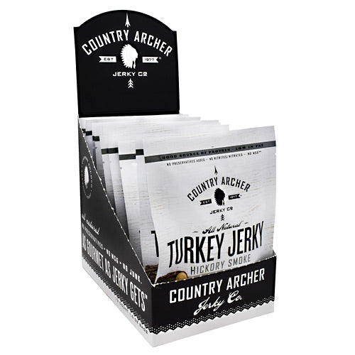 Country Archer Turkey Jerky - Hickory Smoke - 12 ea - 10853016002721
