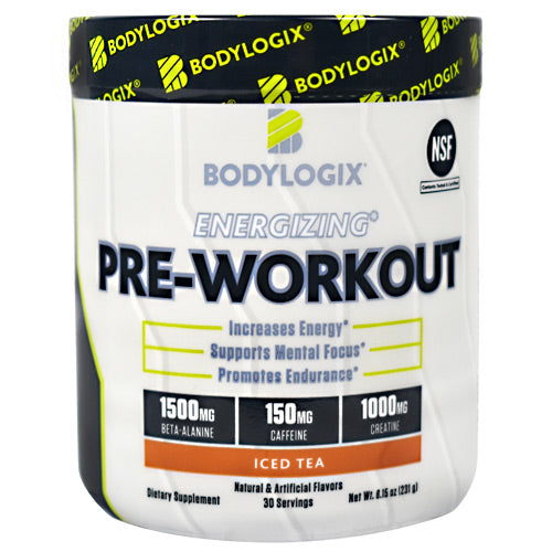 BodyLogix Energizing Pre-Workout - Iced Tea - 30 Servings - 694422030051