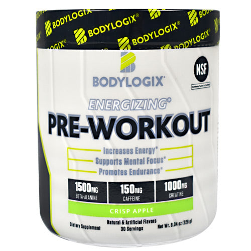 BodyLogix Energizing Pre-Workout - Crisp Apple - 30 Servings - 694422030068