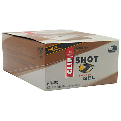 Clif Bar Shot Energy Gel - Mocha - 24 Packets - 722252276223