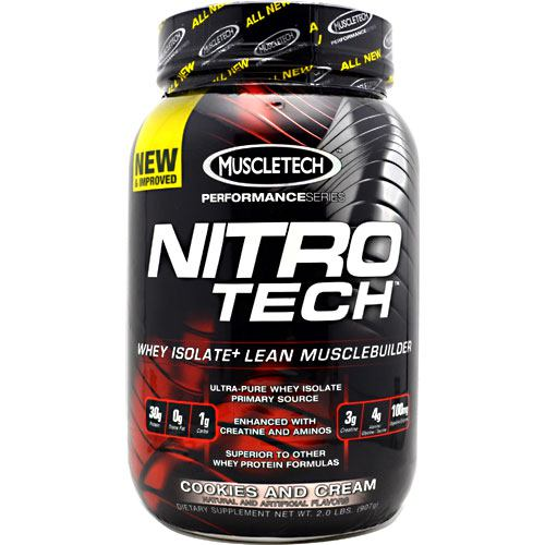 Muscletech Performance Series Nitro-Tech - Cookies and Cream - 2 lb - 631656703276