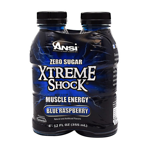 ANSI Xtreme Shock - Blue Raspberry - 4 Bottles - 689570407404