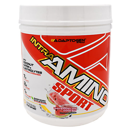 Adaptogen Science Intra-Amino Sport - Watermelon Cooler - 30 Servings - 861416000493