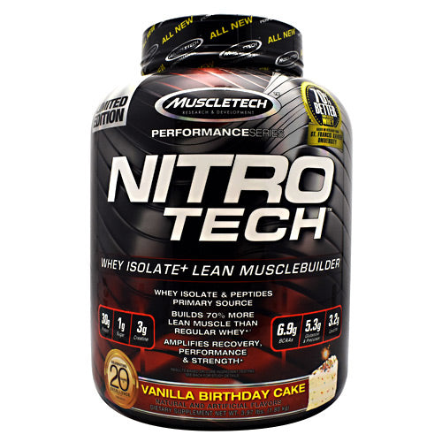 Muscletech Performance Series Nitro-Tech - Vanilla Birthday Cake - 3.97 lb - 631656708127